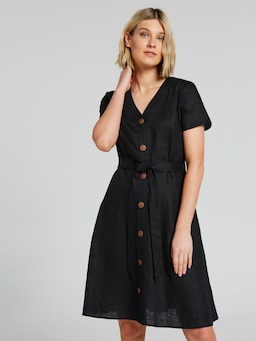 Bowie Button Linen Dress