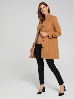 Funnel Neck Stitch Coat