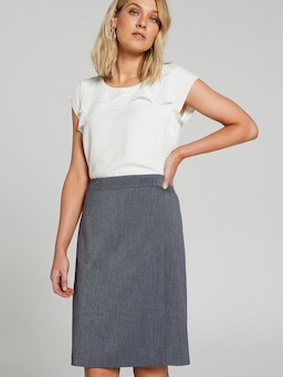 Wrap Front Pencil Suit Skirt