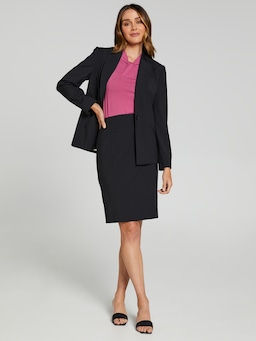 Micro Stripe Suit Skirt