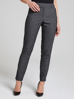 Charcoal Text Slim Work Pant