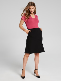 Slight Flip Hem Skirt