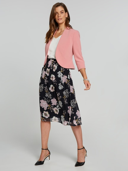 Print Pleat Skirt