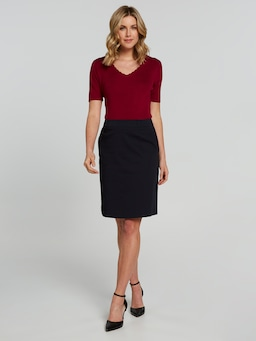 A Line Sateen Skirt