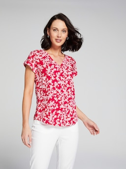 V Neck Viscose Blouse