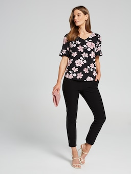 Ainsley Frill Print Top