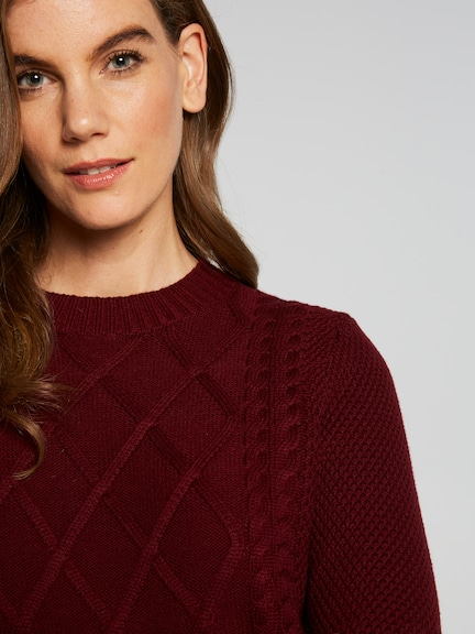 Kayla Cable Detail Knit Top
